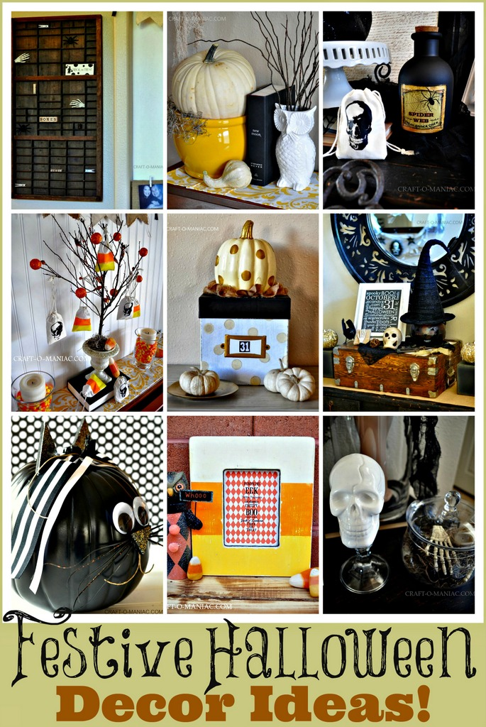 festive halloween decor ideas collage