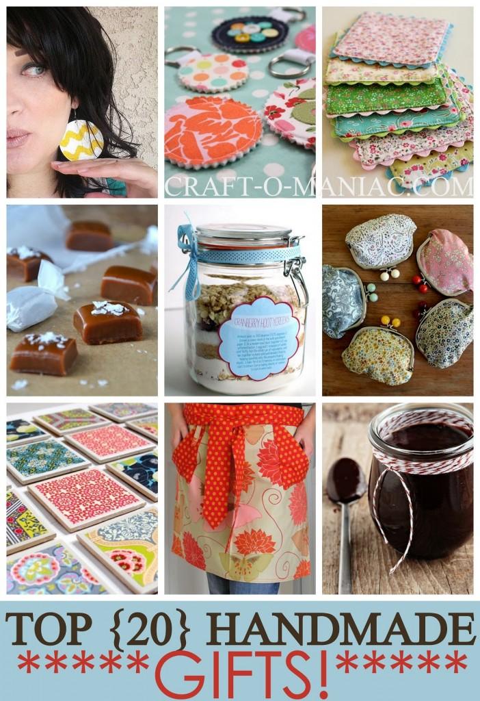 top 20 handmade gift ideas