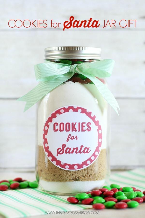 christmas gift santa cookies