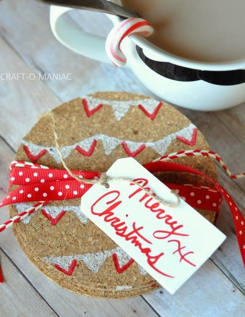 christmas gifts cork coasters