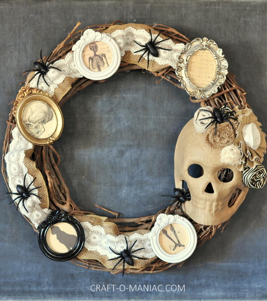 diy halloween vintage frames wreath full