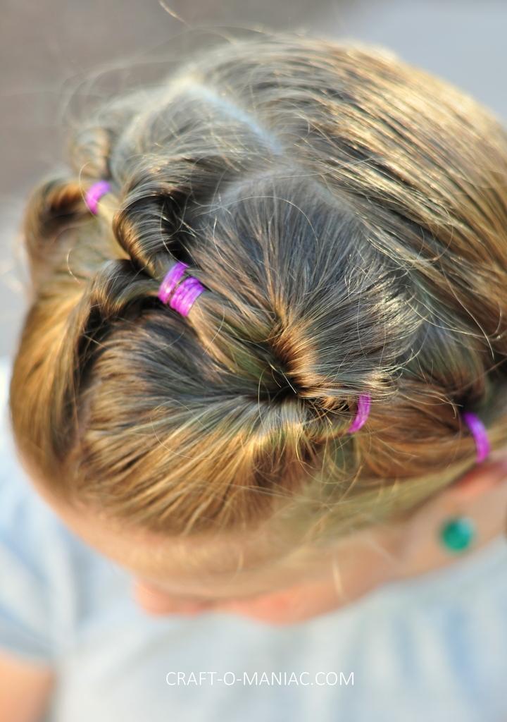 diy little girl twisty loop hair do10