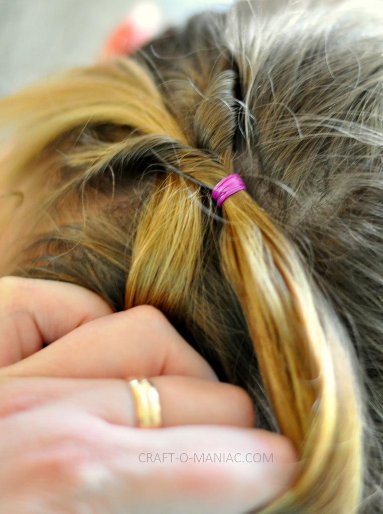 diy little girl twisty loop hair do6
