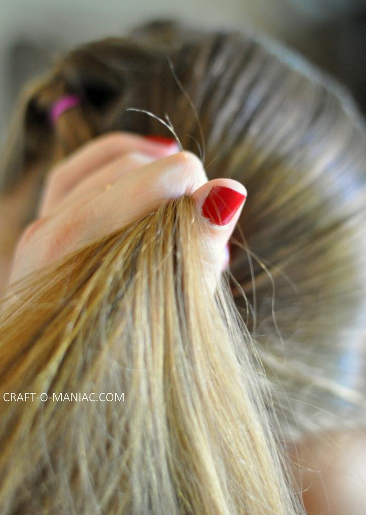 diy little girl twisty loop hair do8