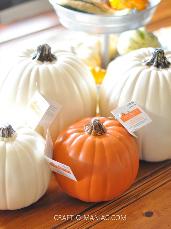 faux pumpkins before