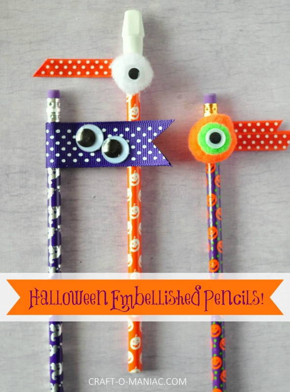 halloween embellished pencils favpm