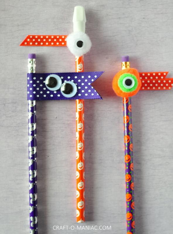 halloween embellished pencils11