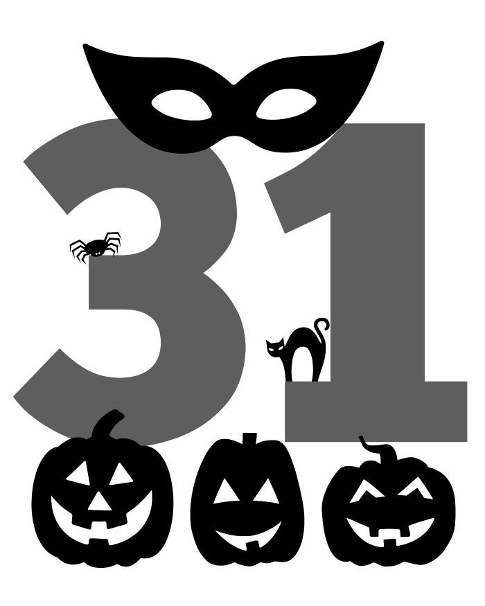 halloween printable grey and black