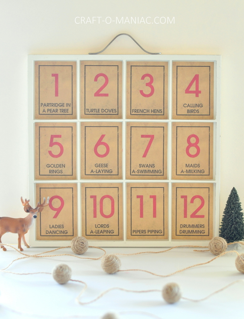 12 days of christmas song tray1