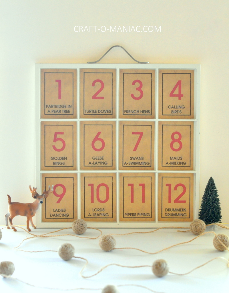 12 days of christmas song tray6full