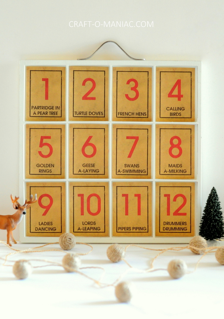 12 days of christmas song tray9