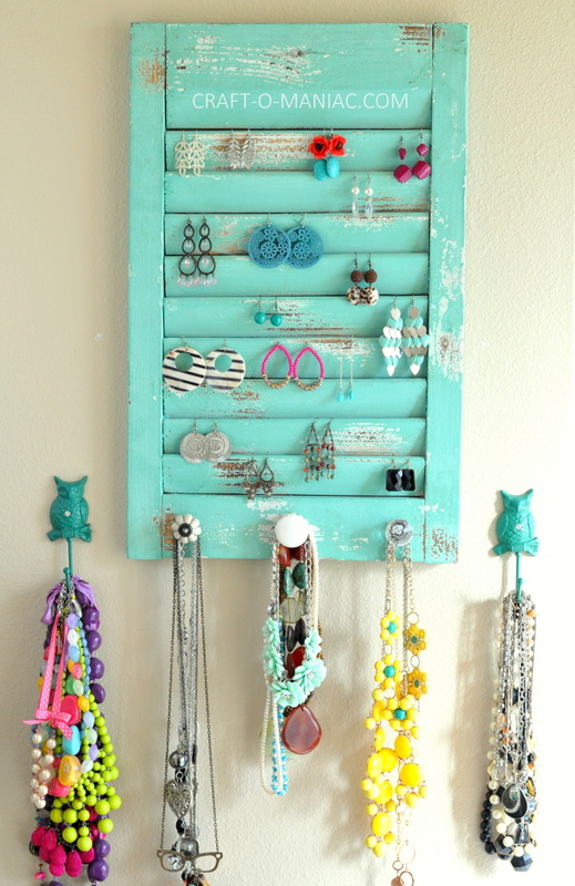 DIY jewelry organization wall4