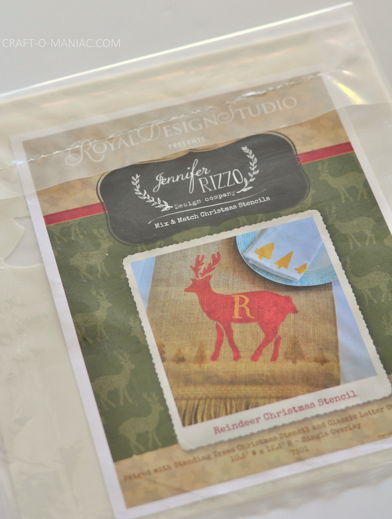 diy stenciled rudolph canvas.9jpg