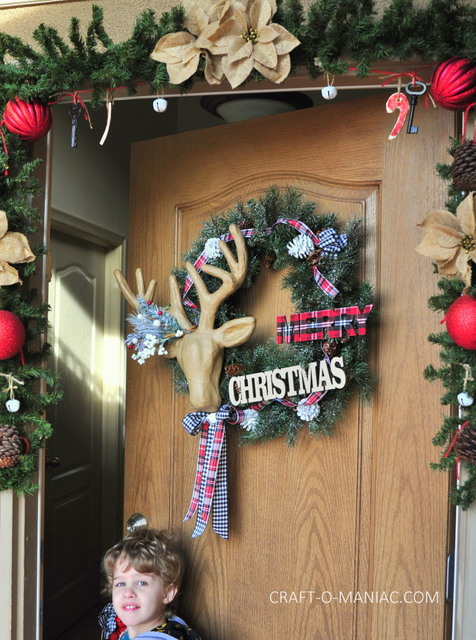 rustic christmas porch8