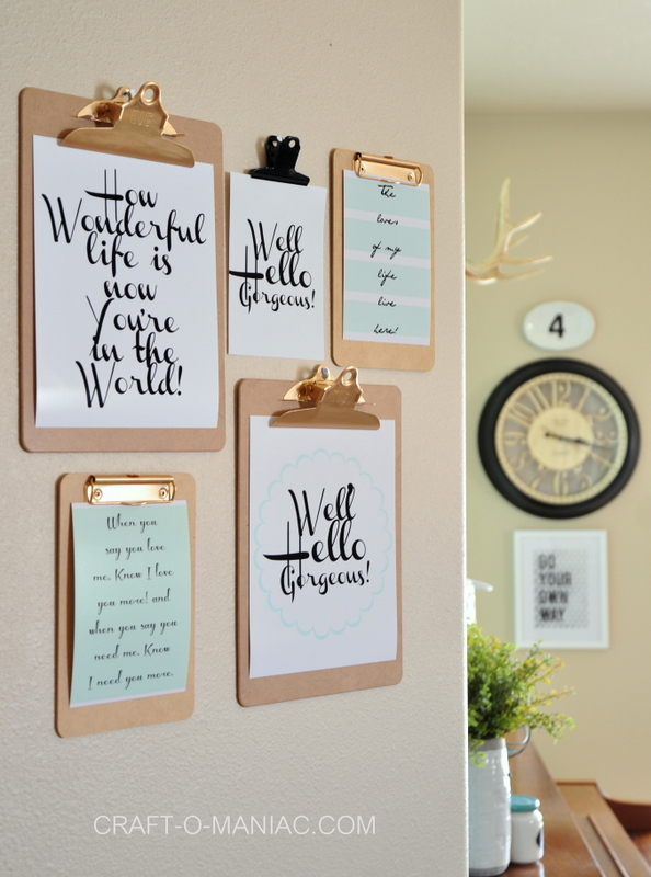 top posts clipboard wall art