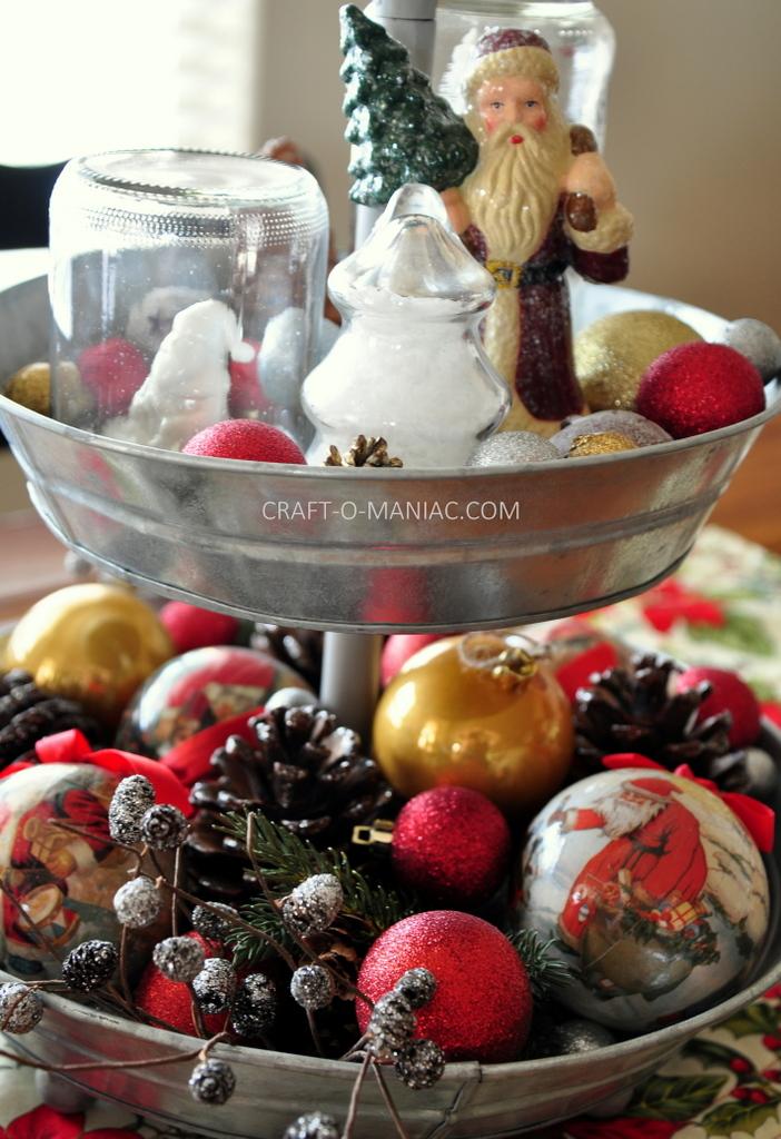 vintage christmas centerpiece