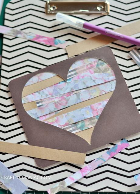 diy paper heart craft