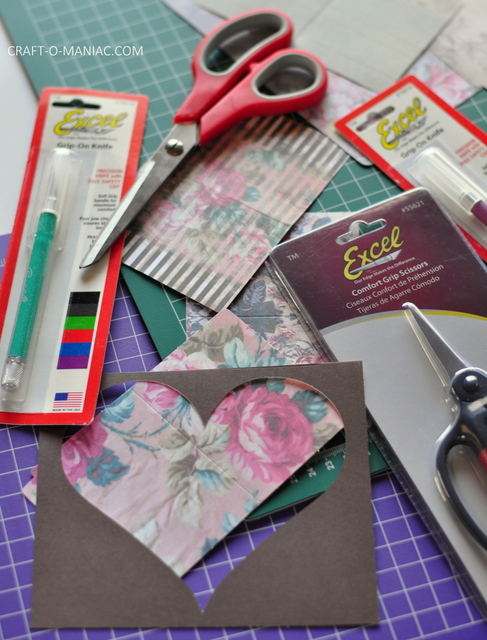 diy paper layered heart