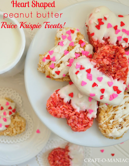 valentine heart shaped rice krispies
