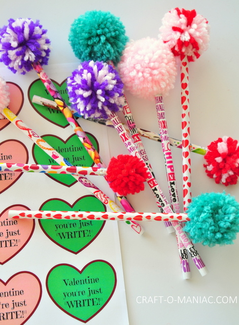 yarn pom pom pencils4