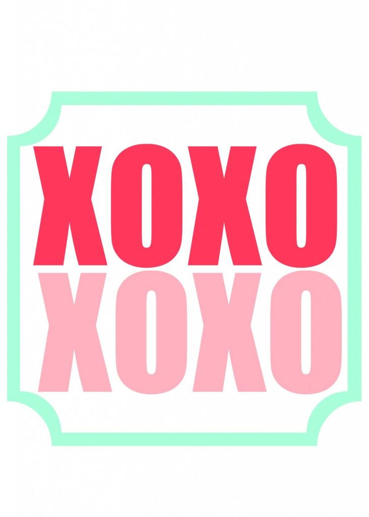 XOXO printable 1