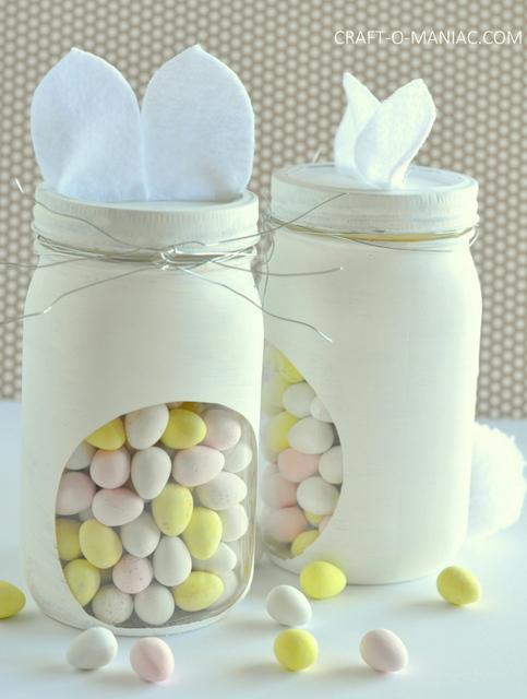 diy bunny embellished candy jars13
