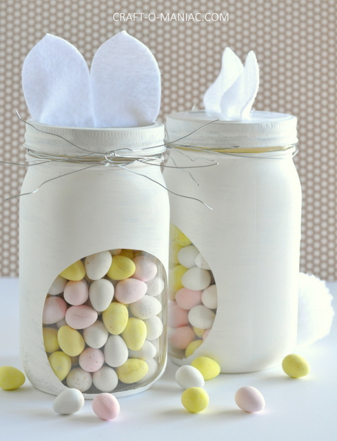 diy bunny embellished candy jars15