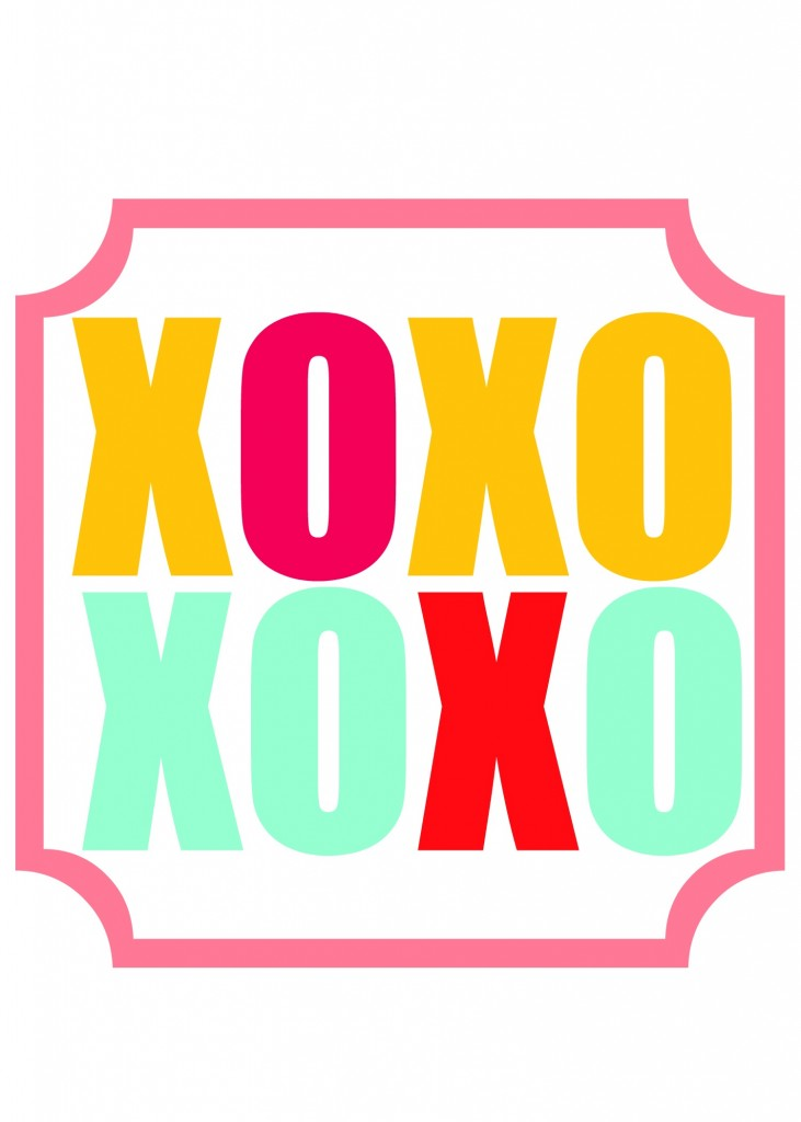 xoxo printable 4