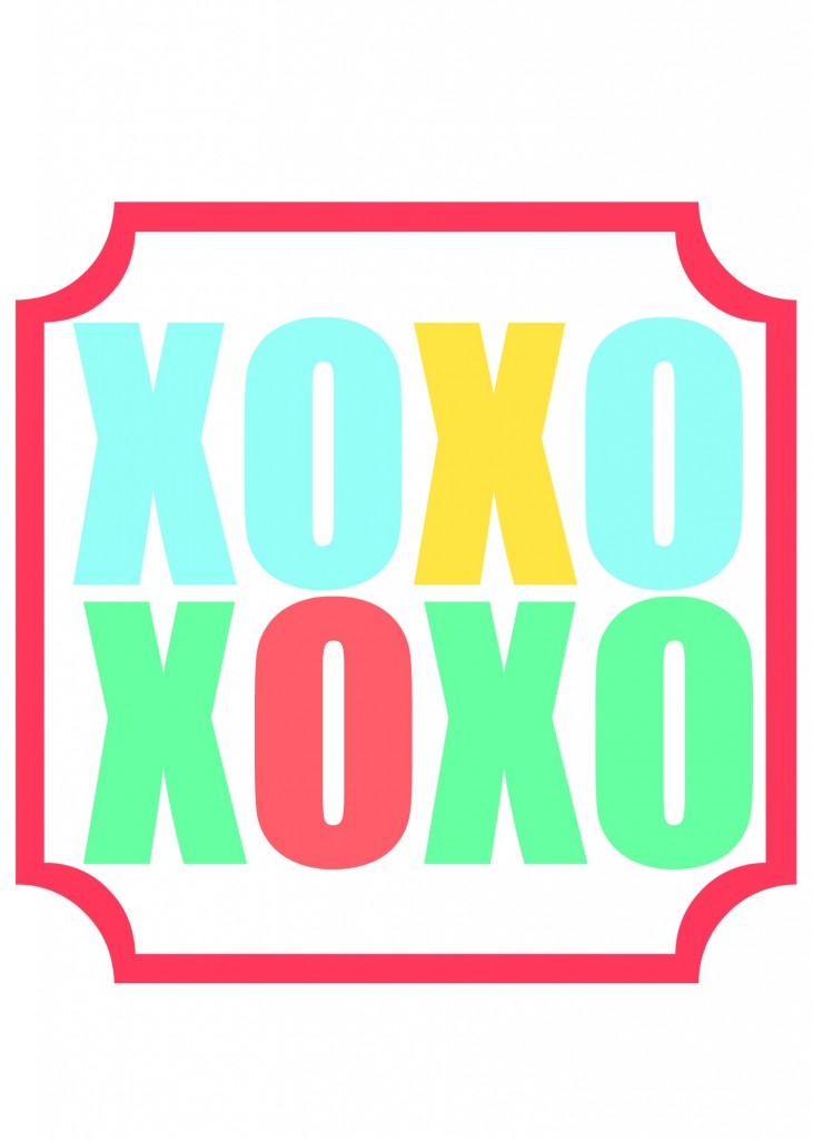 xoxo printable 5