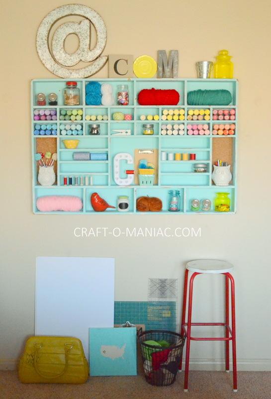 DIY Craft Cubby Wall