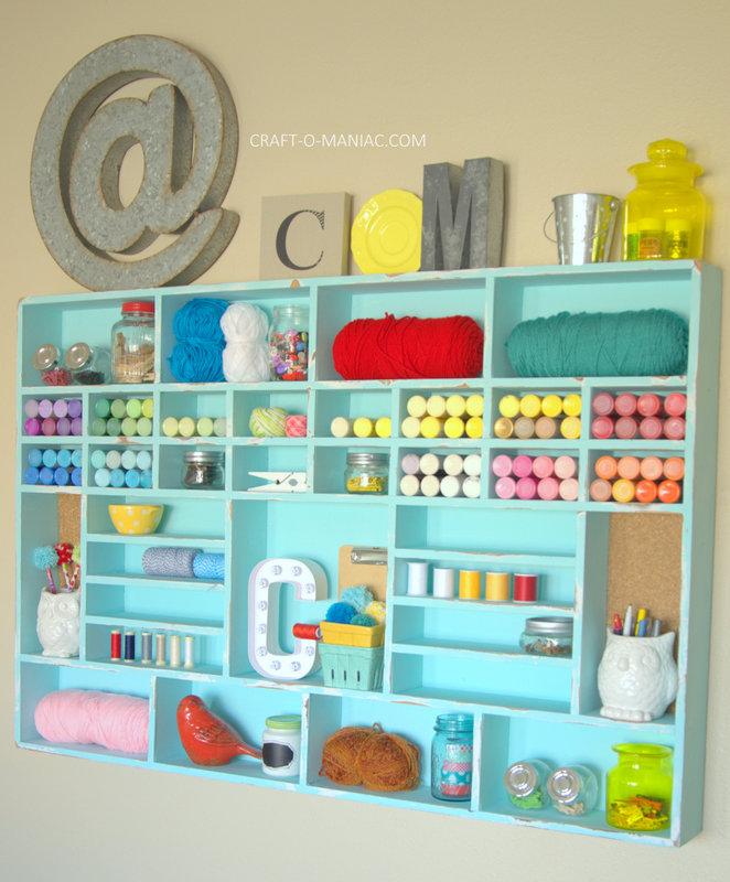 DIY Craft Cubby Wall17
