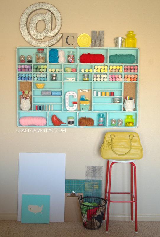 DIY Craft Cubby Wall4