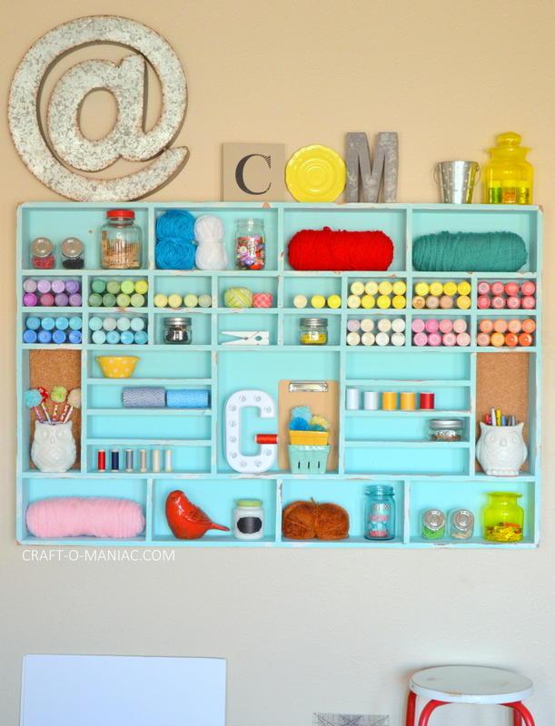DIY Craft Cubby Wall8