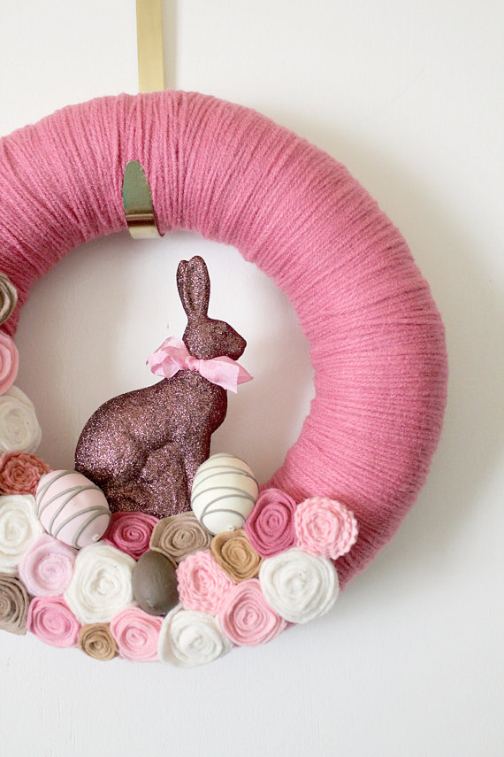 bunny crafts bunny yarn wreath