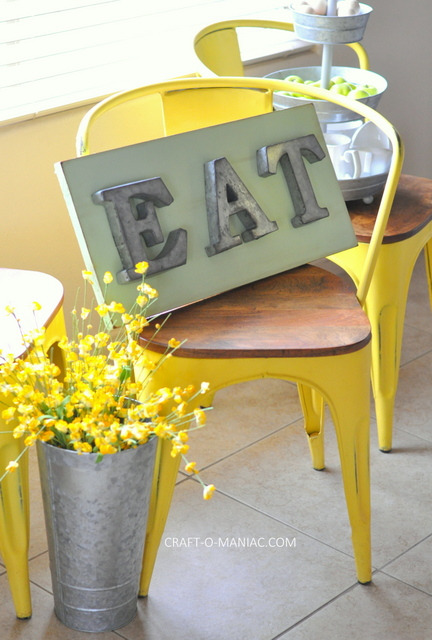diy rustic eat sign