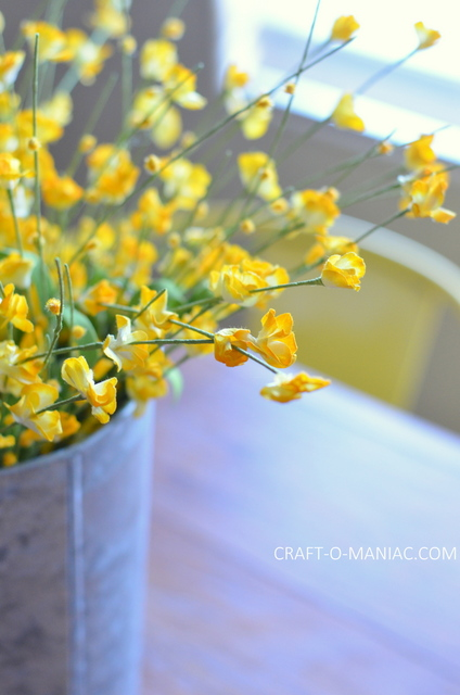 diy rustic kitchen table flowers