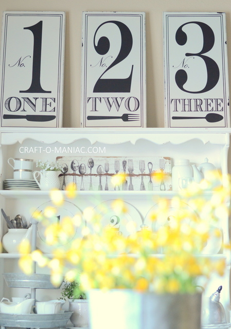diy rustic kitchen table hutch numbers