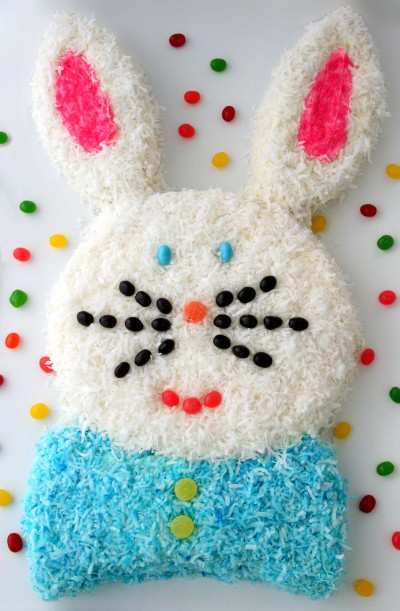 easter crafts bunny coconut cake