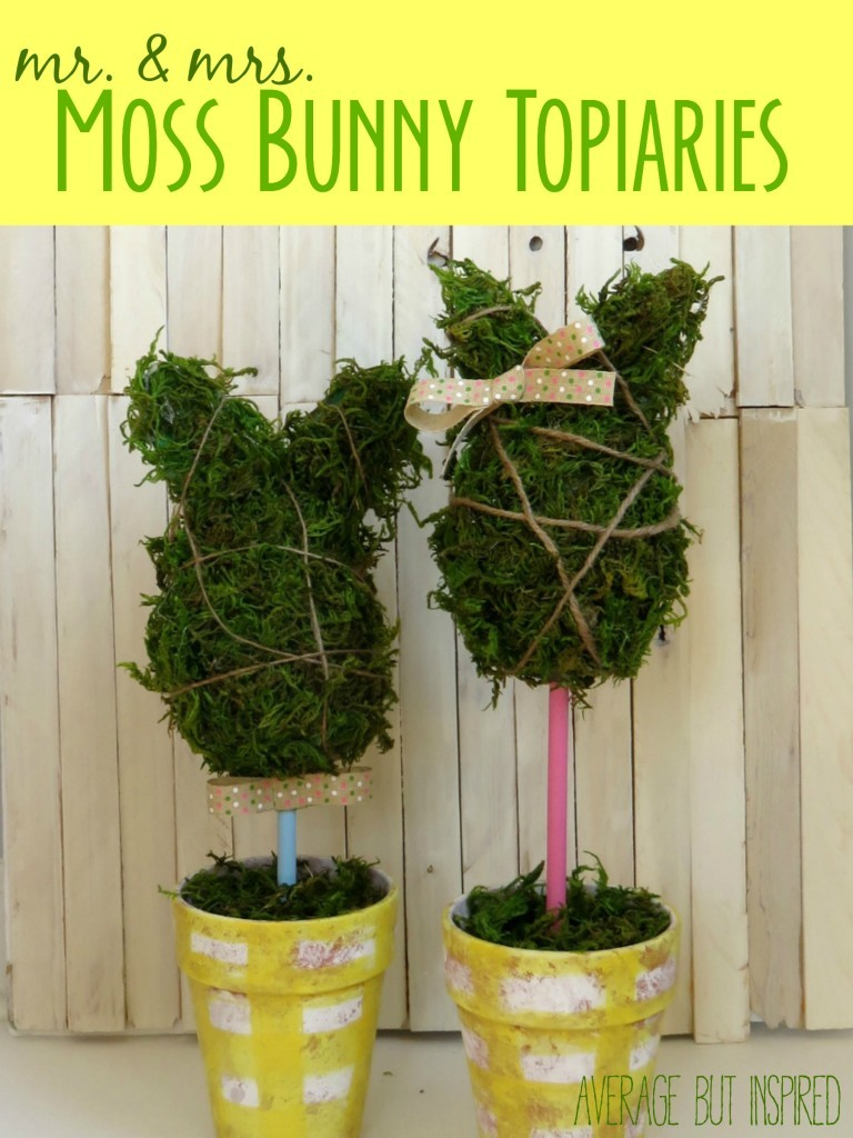 link party mr-and-mrs-moss-bunny-topiaries-768x1024
