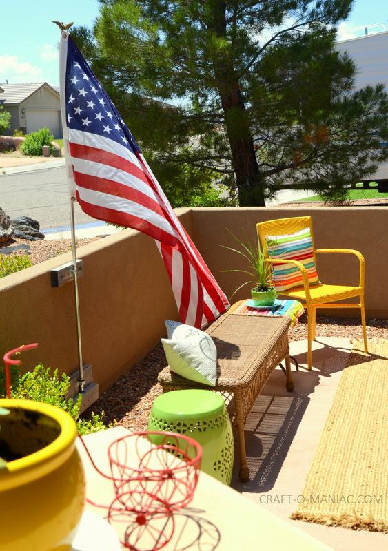 bright colorful porch decor11