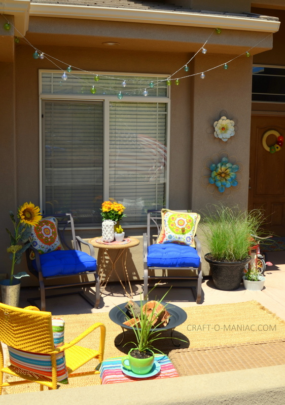 bright colorful porch decor12