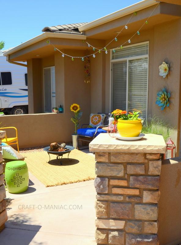 bright colorful porch decor7