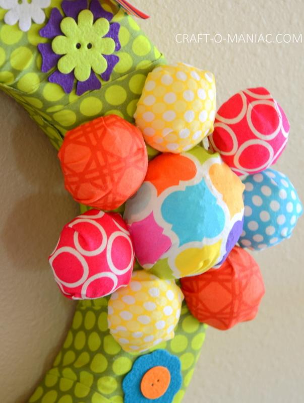 diy foam flower wreath12