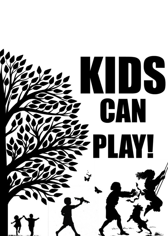 kids can play sign