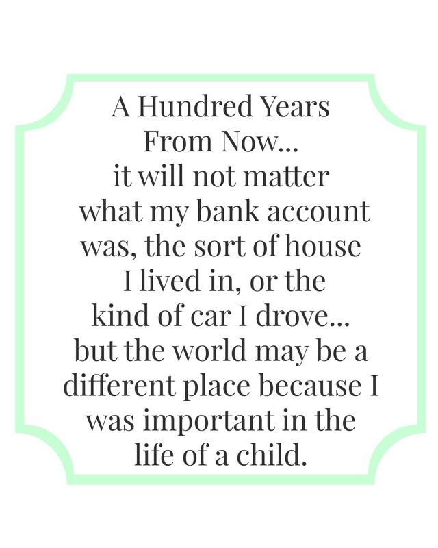 life of a child printable