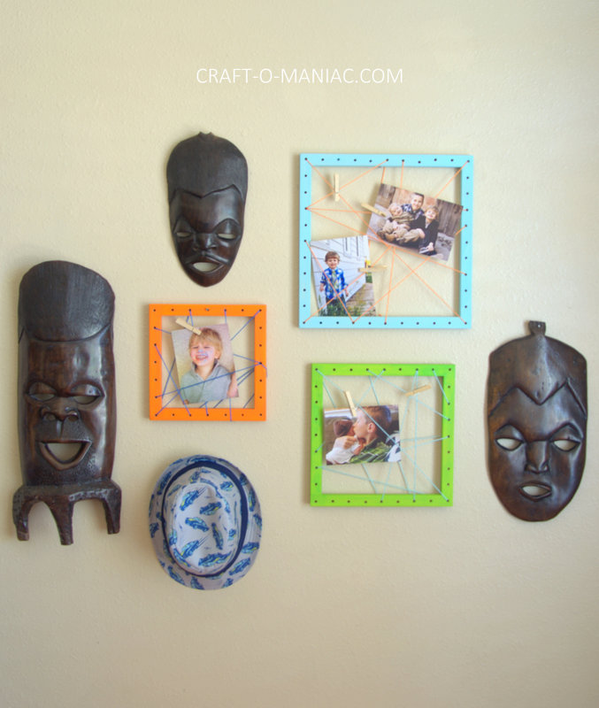 diy string art photo frames15