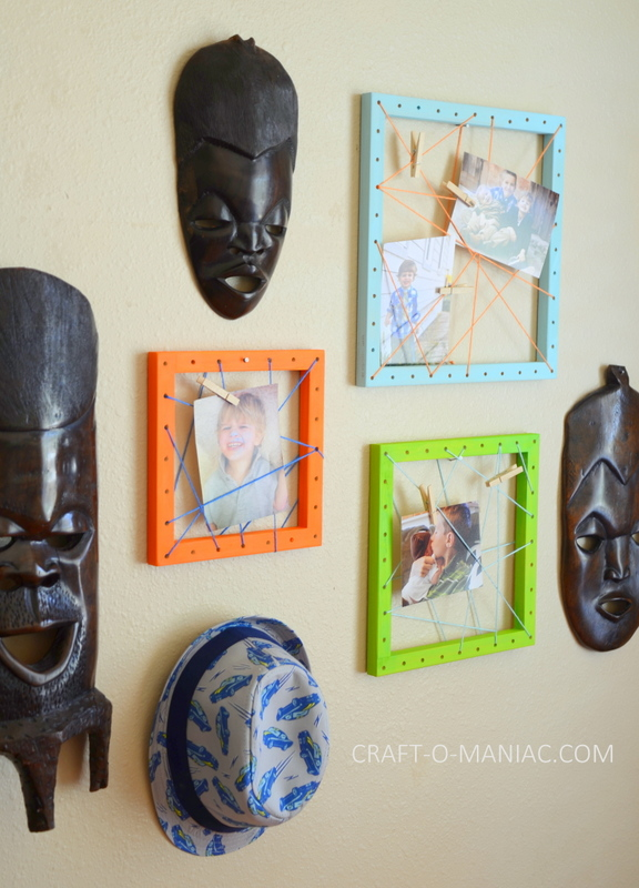 diy string art photo frames17