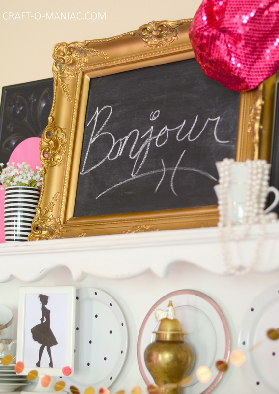paris party bonjour sign1