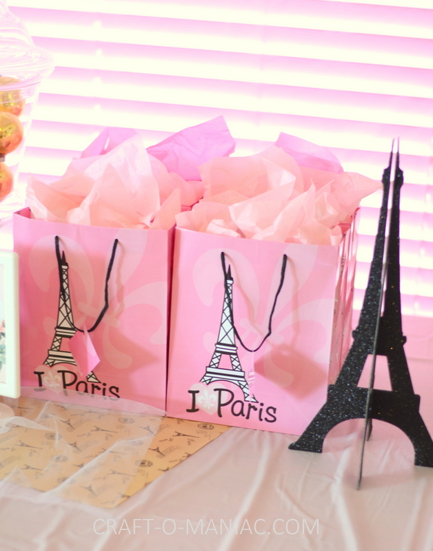 paris party favor bags
