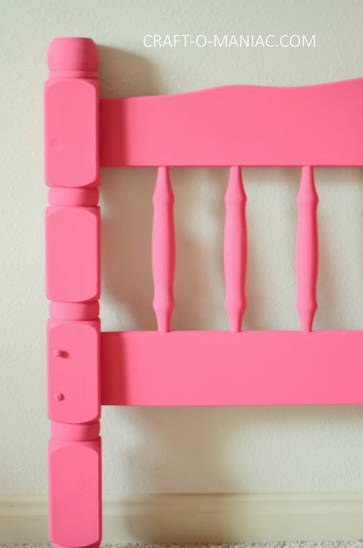upcycled chalk paint pink bed